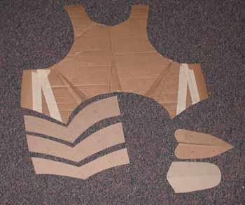Uruk hai armor for Cardboard armour template